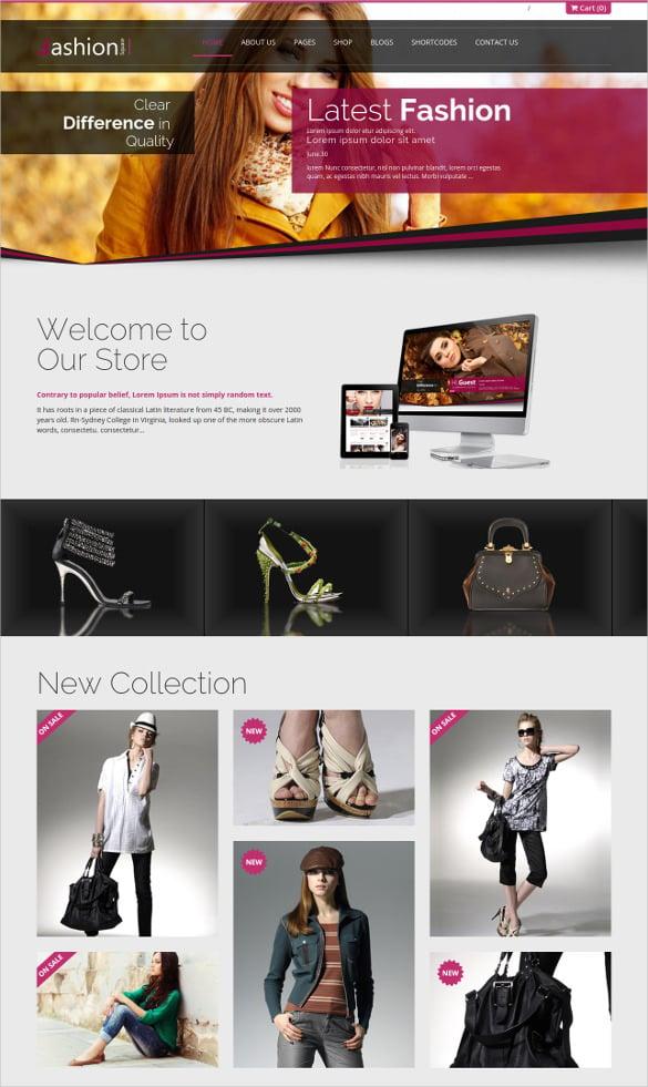 fashion clothe shop responsive ecommerce html5 theme