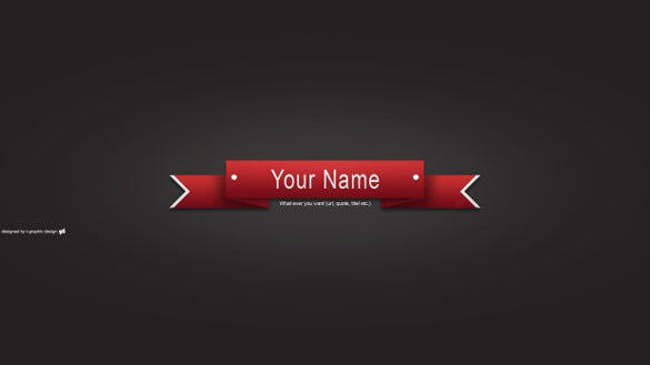 red sample youtube banner art template