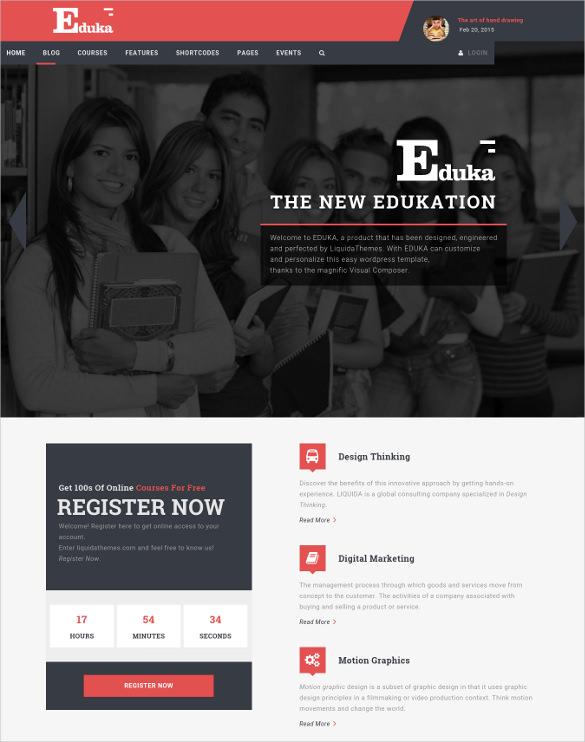 eduka education university wordpress theme