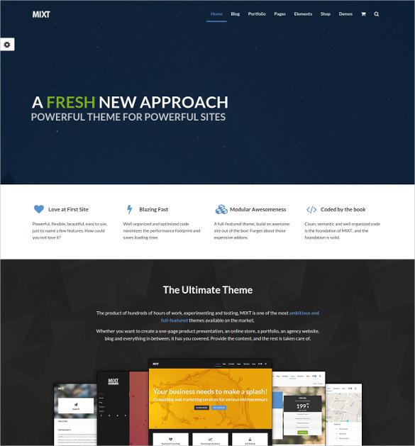 mixt powerful multi purpose wordpress theme