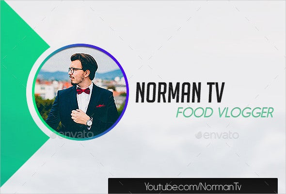 cool sample youtube banner art template