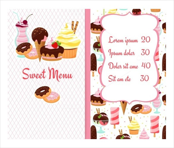 Dessert Menu Template – 21+ Free PSD, EPS Format Download! | Free ...