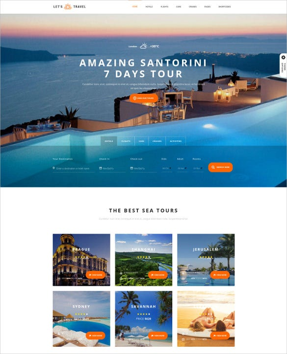 travel complete travel booking wordpress theme