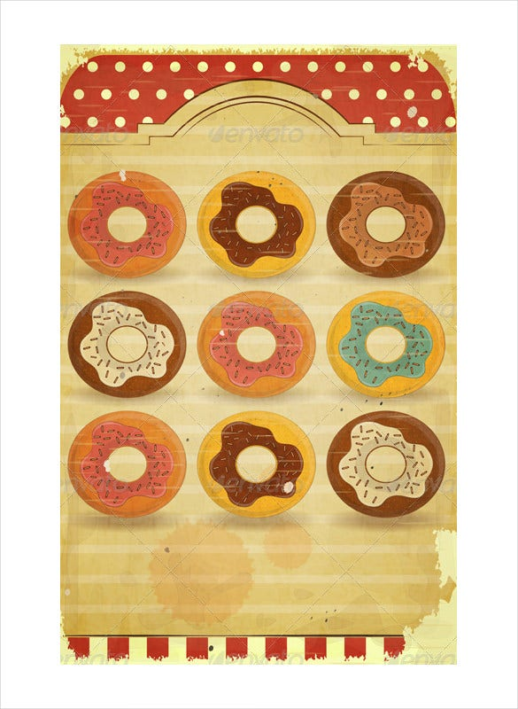 vintage dessert menu template download