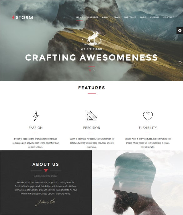 storm creative multi purpose wordpress theme1