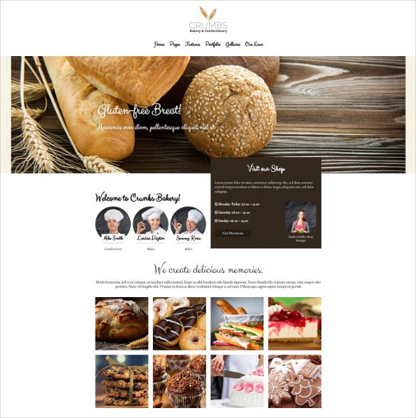 crumbs bakery wordpress theme