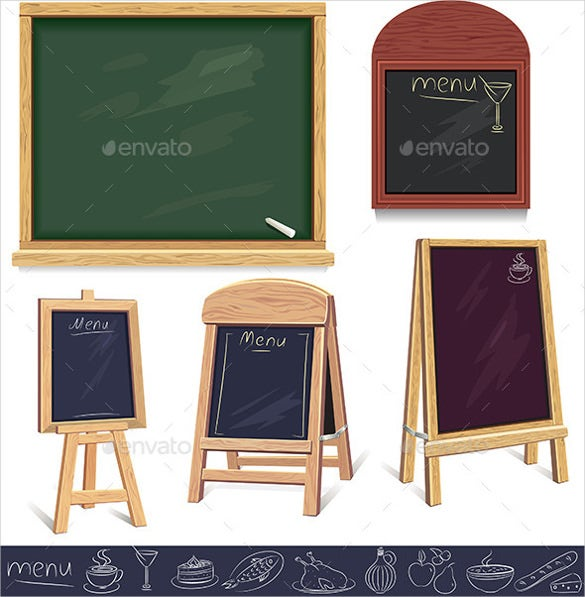 menu boards vector eps template download