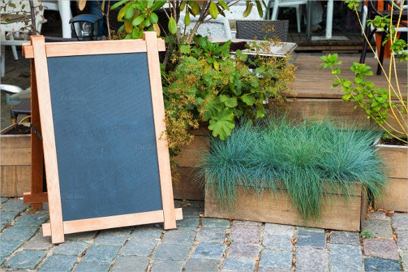 empty menu advertising board template download
