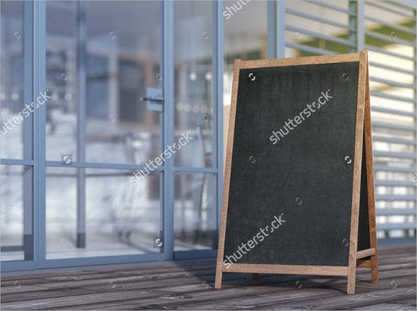 blank menu board on sidewalk template download