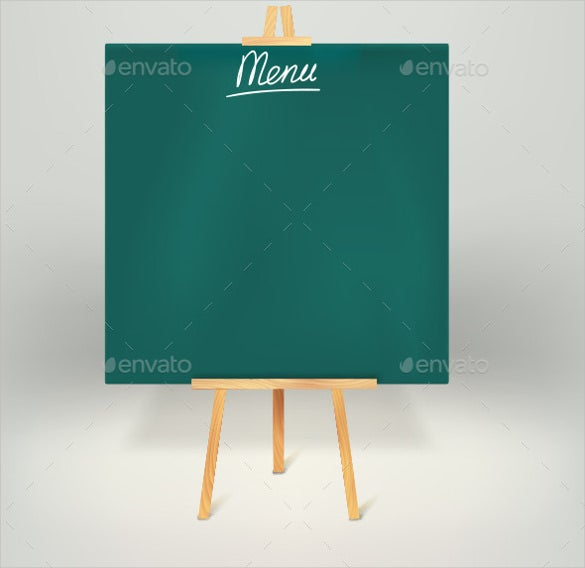 menu board on tripod template download
