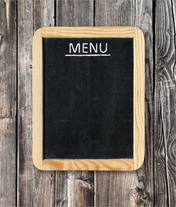 menu board on wall template download