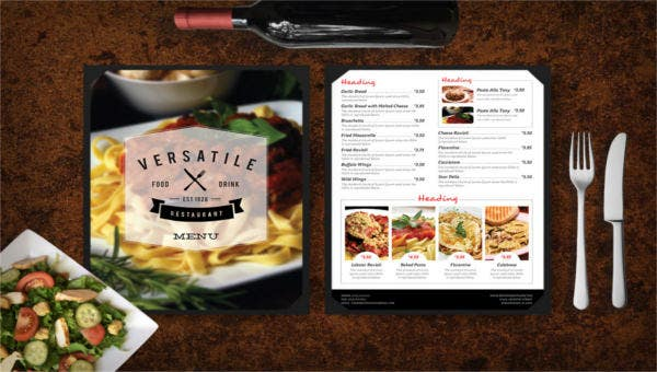 featured image take out menu template