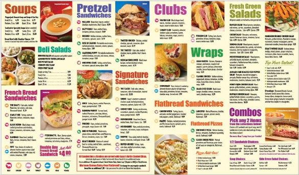 15 Take Out Menu Templates Free Sample Example Format Download – Sample Cafe Menu Template