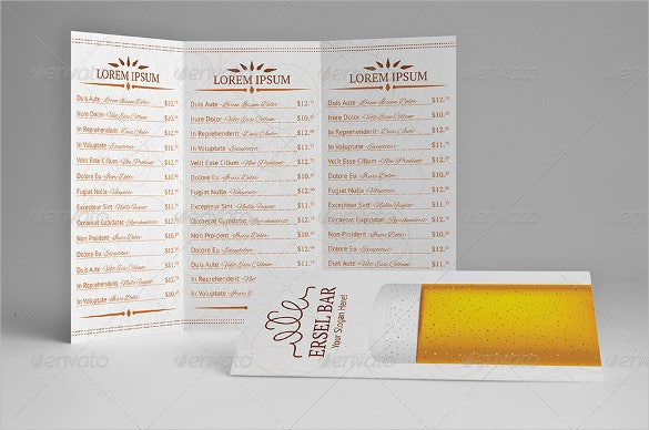 20 beer menu templates free sample example format download free premium templates. Black Bedroom Furniture Sets. Home Design Ideas