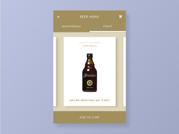beer menu template 1