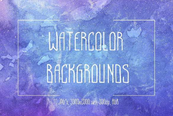water color sample youtube banner background template