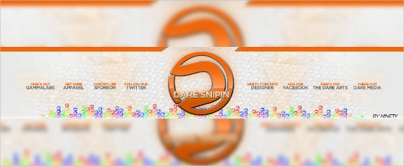 2d youtube sample banner background template