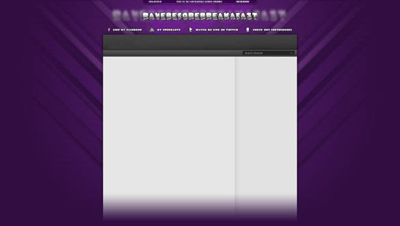 purple sample youtube banner background template