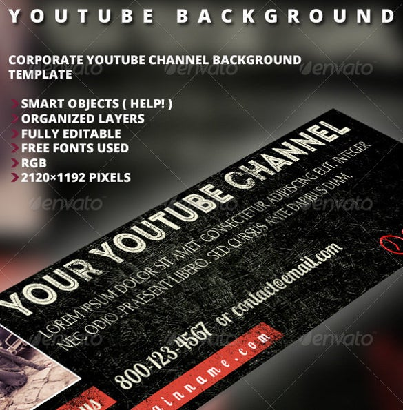 grunge sample youtube banner background template