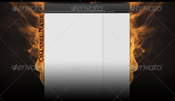 metallic sample youtube banner background template