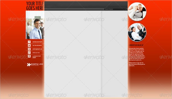 corporate sample youtube banner background template