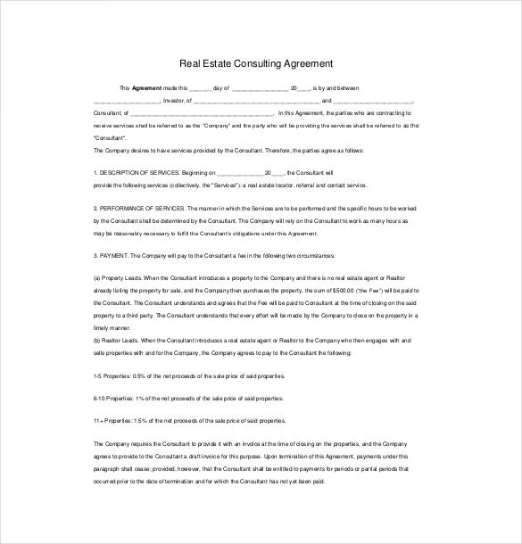 12 consulting agreement templates free sample example for Sales consultant contract template