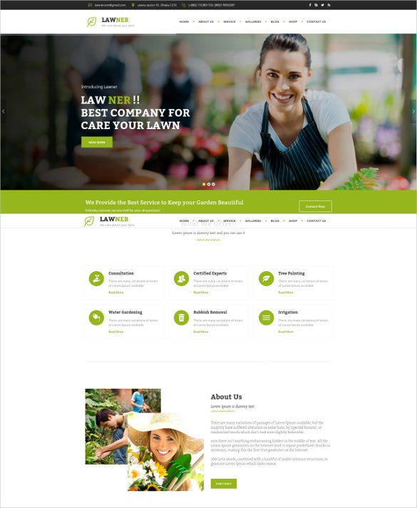 agriculture gardening landscaping html template2