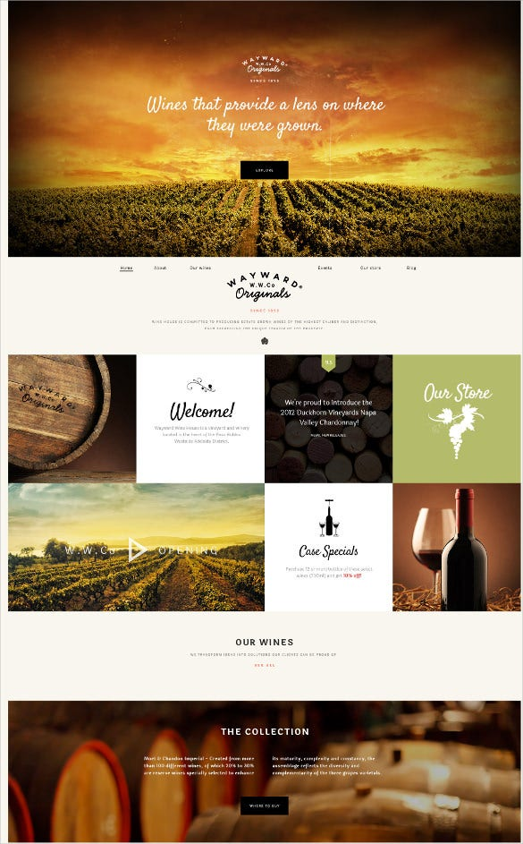 agriculture grown website template