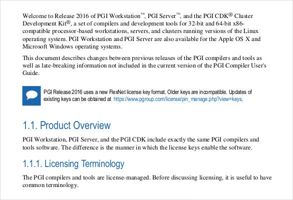 pgi release notes free download pdf template