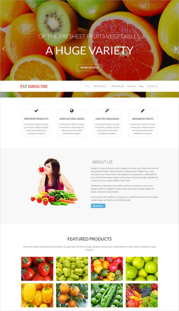 agriculture wordpress website theme