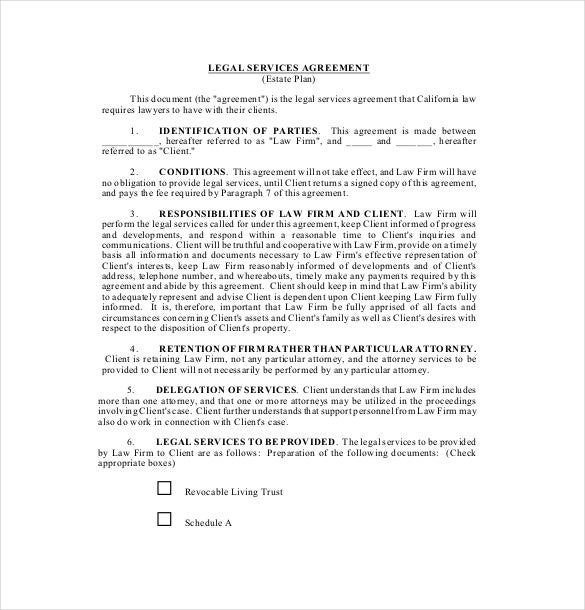 20 Service Agreement Template Free Sample Example