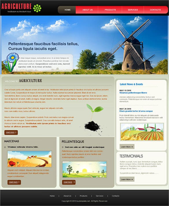 Free Agriculture Website Templates & Themes | Free & Premium ...