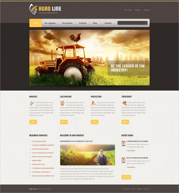 tasty agriculture drupal website template
