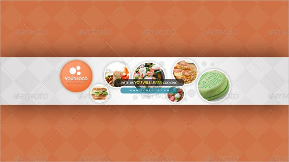 restaurant simple youtube sample banner template