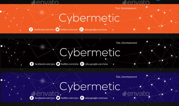 cybermetic simple youtube banner sample template