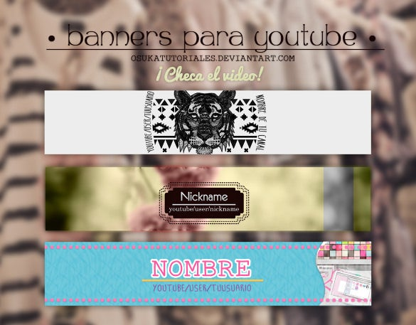 editable simple youtube banner sample template