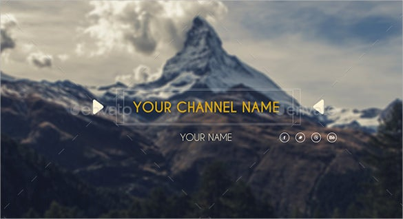 attractive simple youtube banner sample template
