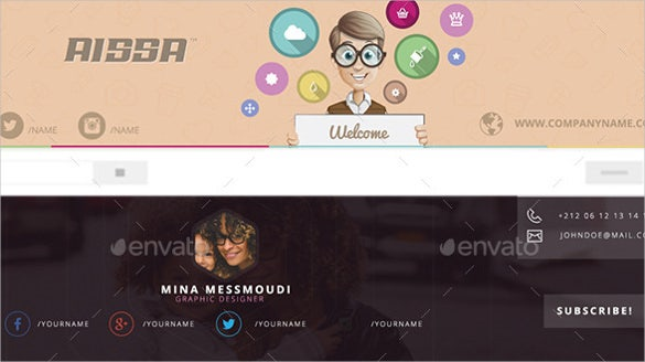 clean simple youtube banner sample template