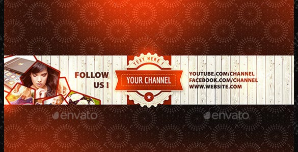 classic simple youtube banner sample template