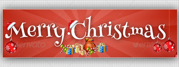 christmas simple youtube banner sample template