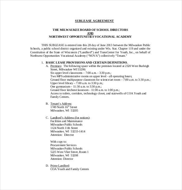 10 sublease agreement templates free sample example format esbwaukeek12wi use this impressive sublease agreement sample template to make a legally binding agreement with your subtenant platinumwayz