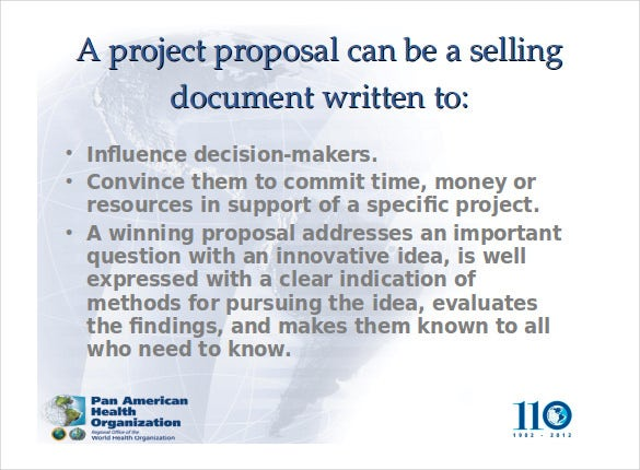 how to write a project proposal free ppt format