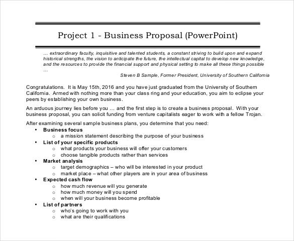 Project Proposal Template 38 Free Word PPT PDF Documents – Business Proposal Sample Format