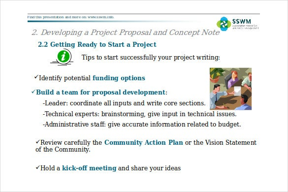 ppt format project proposal concept note free template