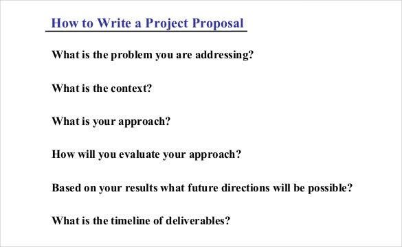 Project Proposal Template 38 Free Word PPT PDF Documents – Project Proposal Sample