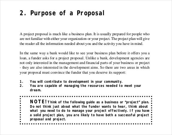 project proposal writing template free pdf