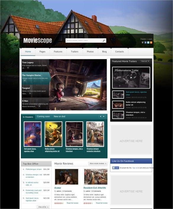 movie responsive wordpress portal blog theme