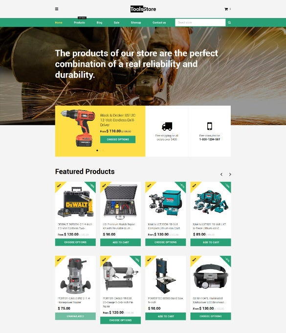 tools store shopify blog theme