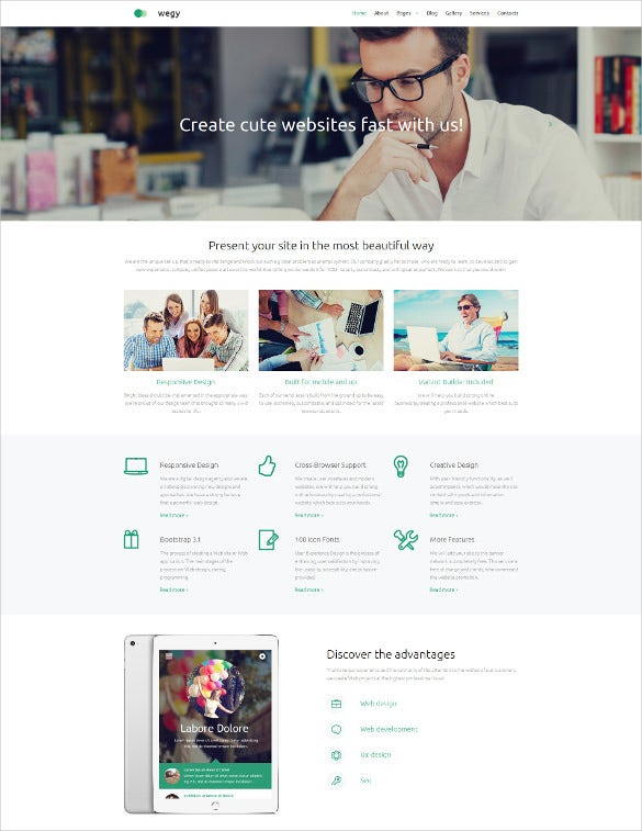 design studio responsive moto cms 3 blog template