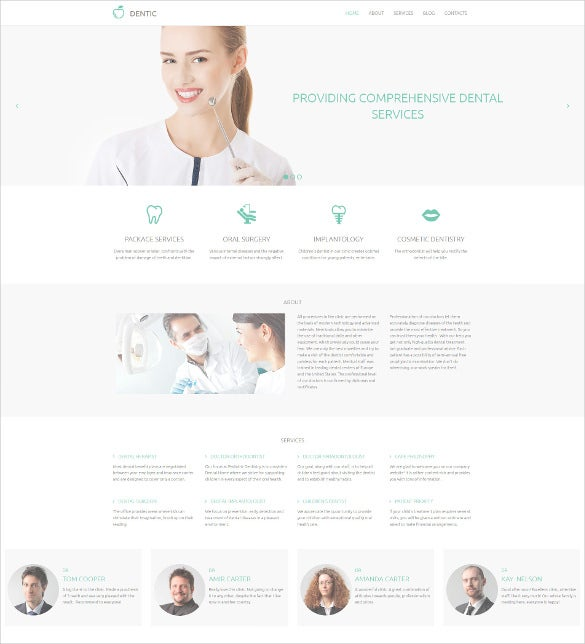 dentistry responsive moto cms 3 blog template